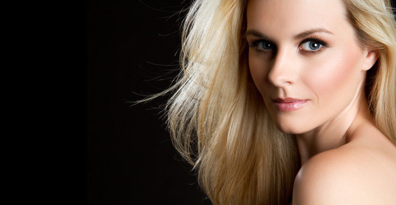 Invisible-Black-Background-Beautiful-Blond-Woman
